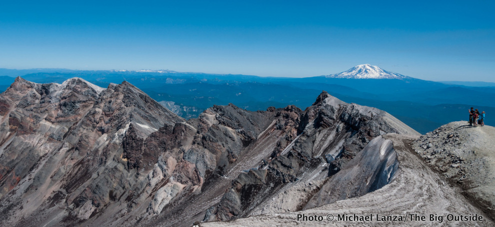 Crater rim of Mount St. Helens.
