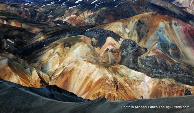 Iceland, Blahnukur, Landmannalaugar, Laugavegur Trail