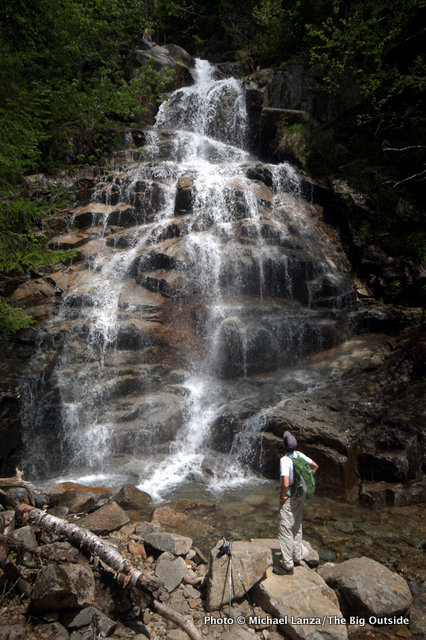 Mark Fenton on the Falling Waters Trail, Franconia Notch, N.H.
