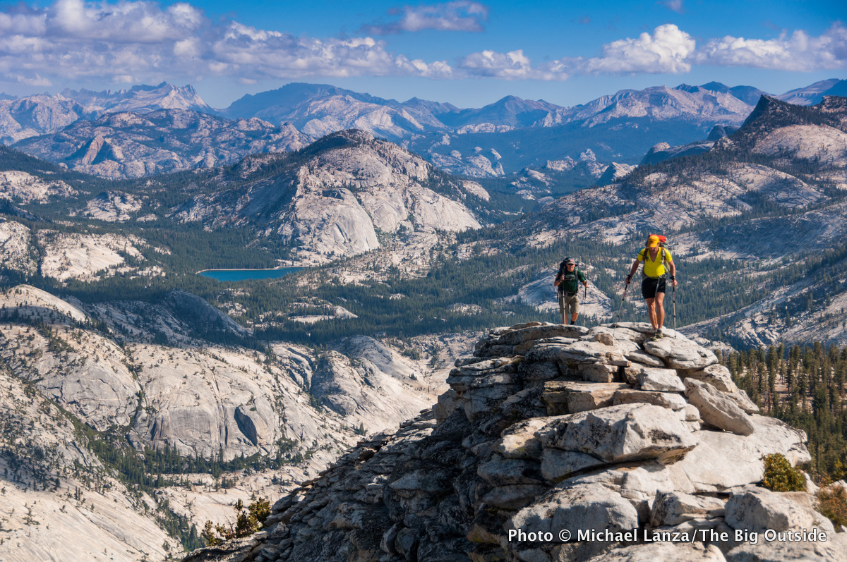 Backpackers On Clouds Rest Yosemite National Park The